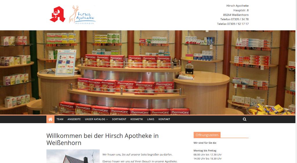 IMP Referenz Hirsch-Apotheke Weissenhorn